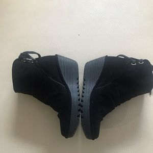 Fly London Black Suede Yama Bootie